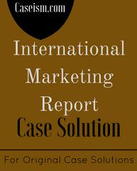 International Marketing Report 1993 Case Solution