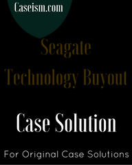 Seagate Technology Buyout Harvard Case Solution & Analysis