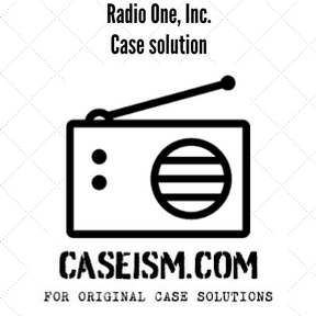 radio one case analysis discounted cash flow Advanced corporate finance syllabus  questions can be answered through incremental cash flow analysis technique,  • radio one, inc the case.
