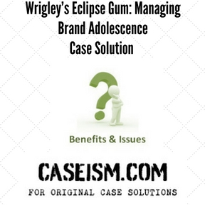 the wrigley case study solution William wrigley case study the right path for wrigley the following analysis will evaluate the assumptions made by ms dobrynin and her associate, examine wrigley's financial position under each alternative option, and provide suggested recommendations for ms chandler to present to wrigley's board of directors.