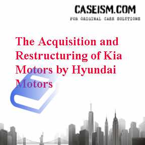 hyundai and kia case study The acquisition and restructuring of kia motors by hyundai motors case solution,the acquisition and restructuring of kia motors by hyundai motors case.