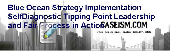 Blue Ocean Strategy Implementation Self-Diagnostic: Tipping Point Leadership and Fair Process in Action Case Solution