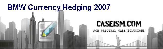 BMW: Currency Hedging 2007 Case Solution
