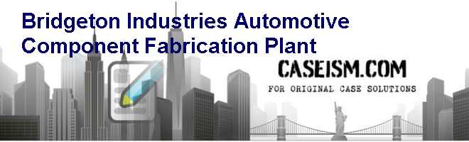 Bridgeton Industries: Automotive Component & Fabrication Plant Case Solution