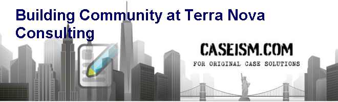Building Community at Terra Nova Consulting Case Solution
