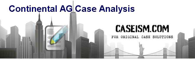 Continental AG Case Analysis Case Solution