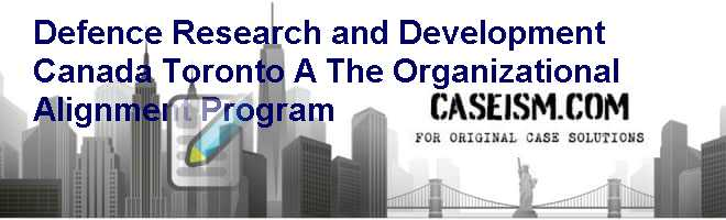 Defence Research and Development Canada – Toronto (A): The Organizational Alignment Program Case Solution