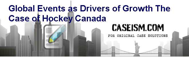 Global Events as Drivers of Growth: The Case of Hockey Canada Case Solution
