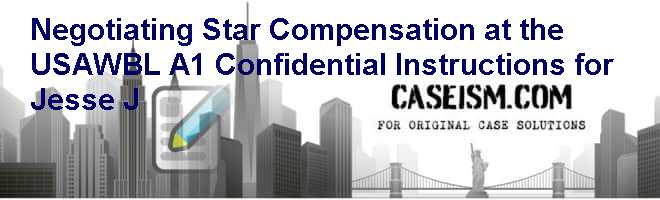 Negotiating Star Compensation at the USAWBL (A-1): Confidential Instructions for Jesse J Case Solution