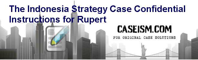 The Indonesia Strategy Case: Confidential Instructions for Rupert Case Solution